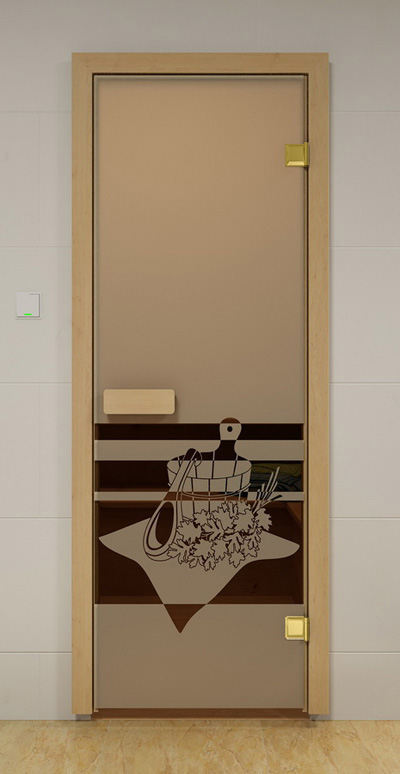 """Дверь ALDO Sauna Market """"Банный Вечер"""""""