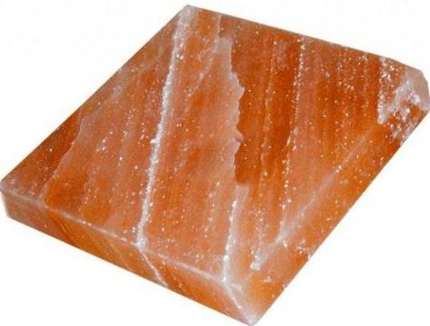 Плитка шлифованная из Гималайской соли квадратная 20x20x2,5см