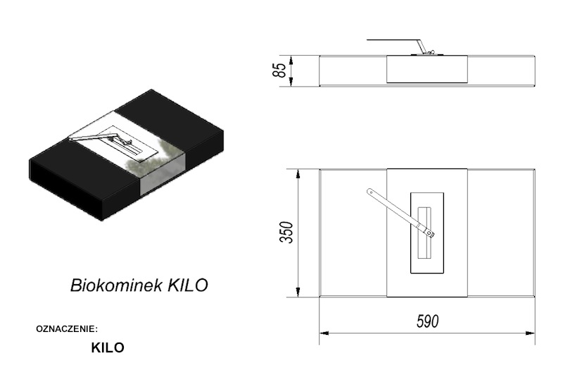 биокамин Kilo - Белфорт Камин.